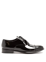 Alexander Mcqueen Patent Leather Derby Shoes Black