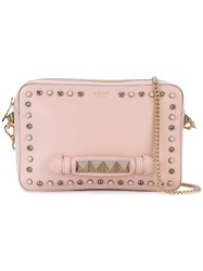 Salar Studded Clutch Women Cotton Calf Leather Metal Other One Size Pink Purple