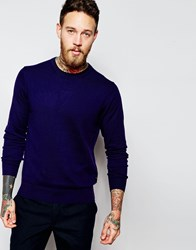Paul Smith Jeans Jumper With Zebra And Crew Neck Purple