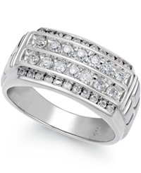 Macy's Men's Diamond Ring 1 Ct. T.W. In 10K White Gold