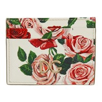 Dolce And Gabbana White Flowers Card Holder