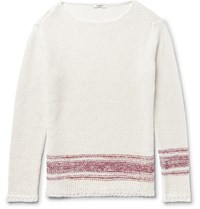 Valentino Linen And Silk Blend Sweater White