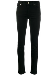 Versace Jeans Couture Mid Rise Skinny Jeans Black