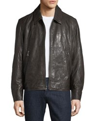 Andrew Marc New York Morrison Lambskin Leather Jacket Espresso
