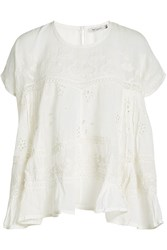 Mes Demoiselles Embroidered Cotton Top