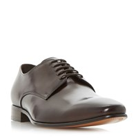 Dune Percival Leather Sole Gibson Shoe Brown