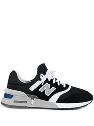 New Balance Panel Lace Up Sneakers Black