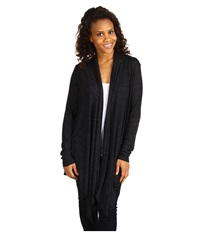 Allen Allen Open Cardigan Black Women's Sweater