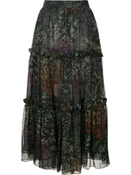 Co Floral Tiered Full Skirt Multicolour