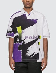 Alexander Wang Oversize Printed Jersey Polo Multicolor