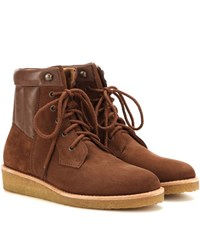 A.P.C. Sia Suede Ankle Boots Brown