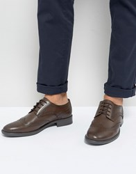 Frank Wright Brogues In Brown Leather Brown
