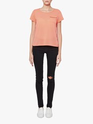 French Connection Verona Crepe Top Peach Blossom
