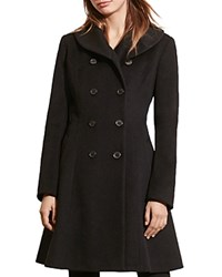 Ralph Lauren Fit And Flare Military Coat Black