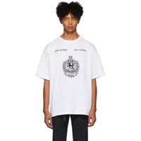 Nanamica White Graphic T Shirt