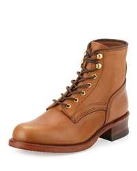 Frye Engineer Artisanal Lace Up Leather Boot Tan