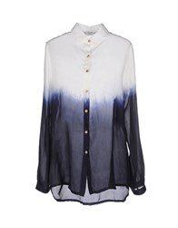 Peacock Blue Shirts Shirts Women White