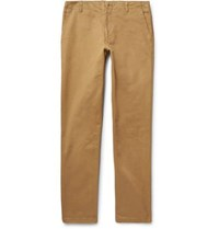 Richard James Cotton Twill Trousers Camel