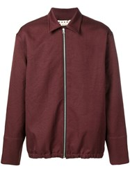 Marni Fitted Jacket Red