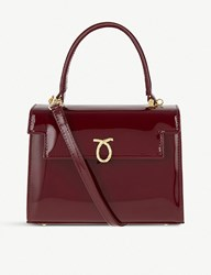 Launer Judi Leather Tote Wild Cherry