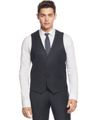Bar Iii Charcoal Flannel Slim Fit Vest Only At Macy's