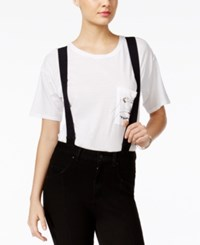 Guess Black Silicone Rinse Suspender Skinny Jeans