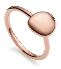 Monica Vinader Nura Small Pebble Stud Ring Female Gold