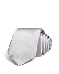 The Men's Store At Bloomingdale's Solid Satin Skinny Tie Silver