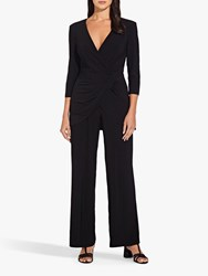 Adrianna Papell Jersey Long Sleeve Jumpsuit Black