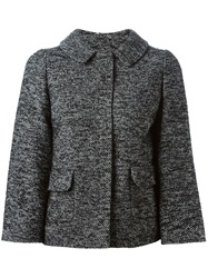 Dolce And Gabbana Slim Fit Tweed Jacket Black
