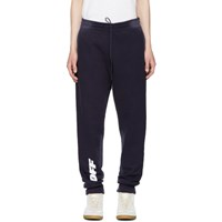 Off White Blue Wing 'Off' Lounge Pants