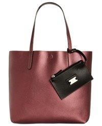 Styleandco. Style Co. Clean Cut Reversible Tote With Wristlet Only At Macy's Pearl Maroon