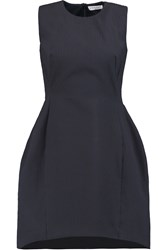 Vionnet Cotton Blend Cloque Mini Dress Blue