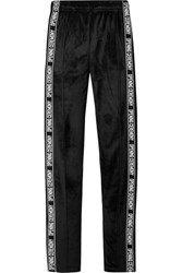 Opening Ceremony Intarsia Trimmed Velour Track Pants Black