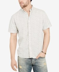 Denim And Supply Ralph Lauren Men's Floral Print Short Sleeve Shirt Cream