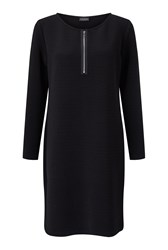 James Lakeland Zip Dress Black