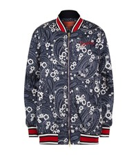 Tommy Hilfiger Oversized Floral Bomber Jacket Female Blue