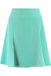 Roland Mouret Boxwell Embroidered Chiffon Mini Skirt Green