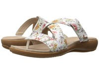 Trotters Komet Off White Floral Women's Sandals Multi