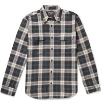 Filson Checked Cotton Flannel Shirt Black