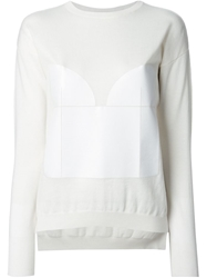 Viktor And Rolf Panelled Knit Top White