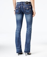Miss Me Stitched Dark Blue Wash Bootcut Jeans
