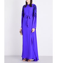 Emilio Pucci Sequin Embellished Silk Gown Purple