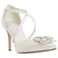 Dune Bridal Collection Deeana Cross Strap Court Shoes Ivory