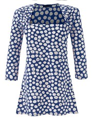 Grace Made In Britain Polka Tunic Blue