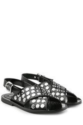 Mcq By Alexander Mcqueen Embellished Leather Sandals