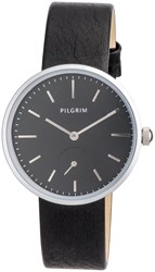 Pilgrim Silver Plated With Black Watch Black