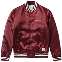 Neighborhood C.W.P. Baseball Jacket Burgundy