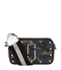 Marc Jacobs Sequin Camouflage Snapshot Camera Bag Female Blue