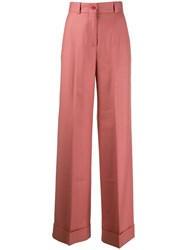 Pt01 Classic Flared Trousers Pink